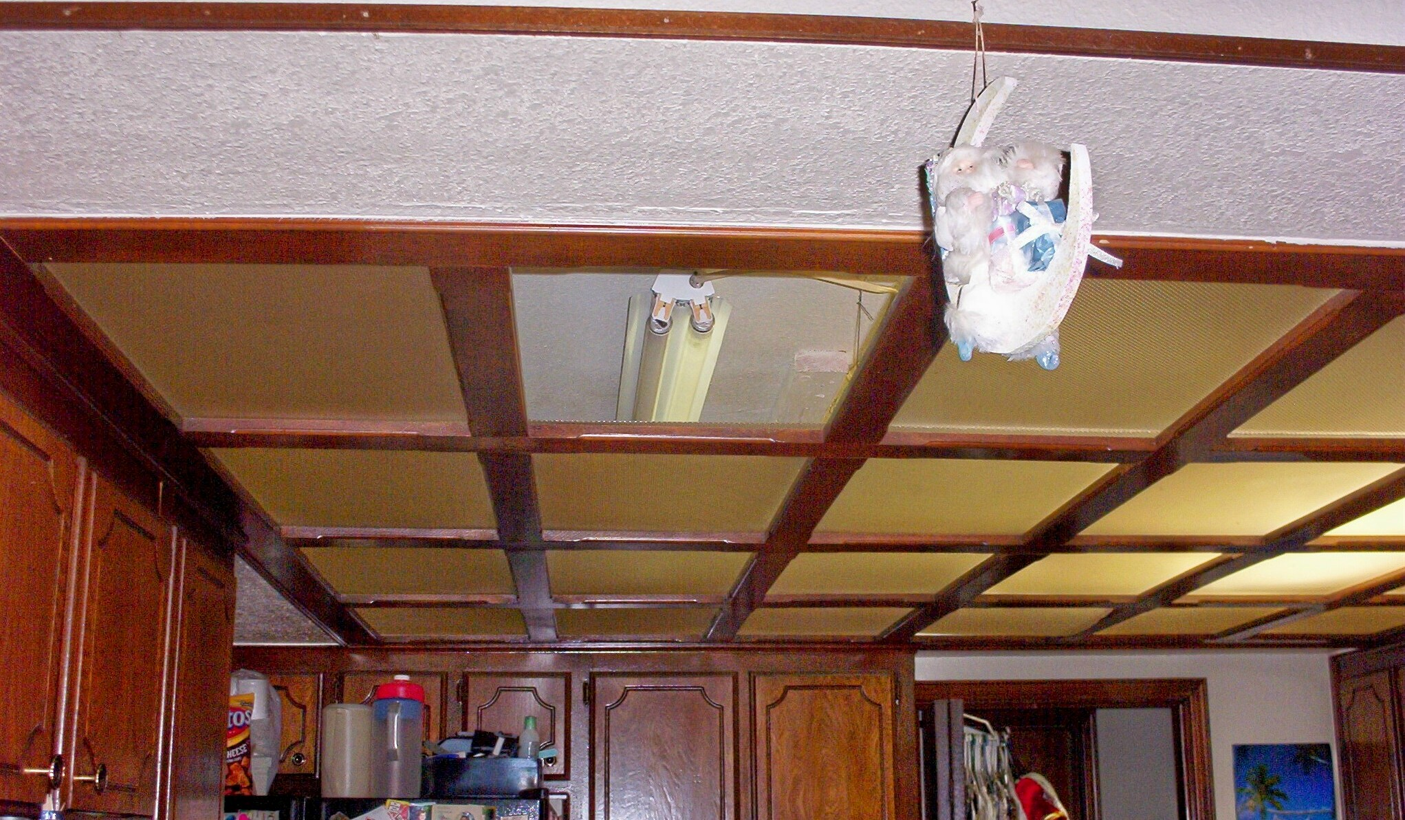Wood Drop Ceiling Kitchen 2043 x 1192