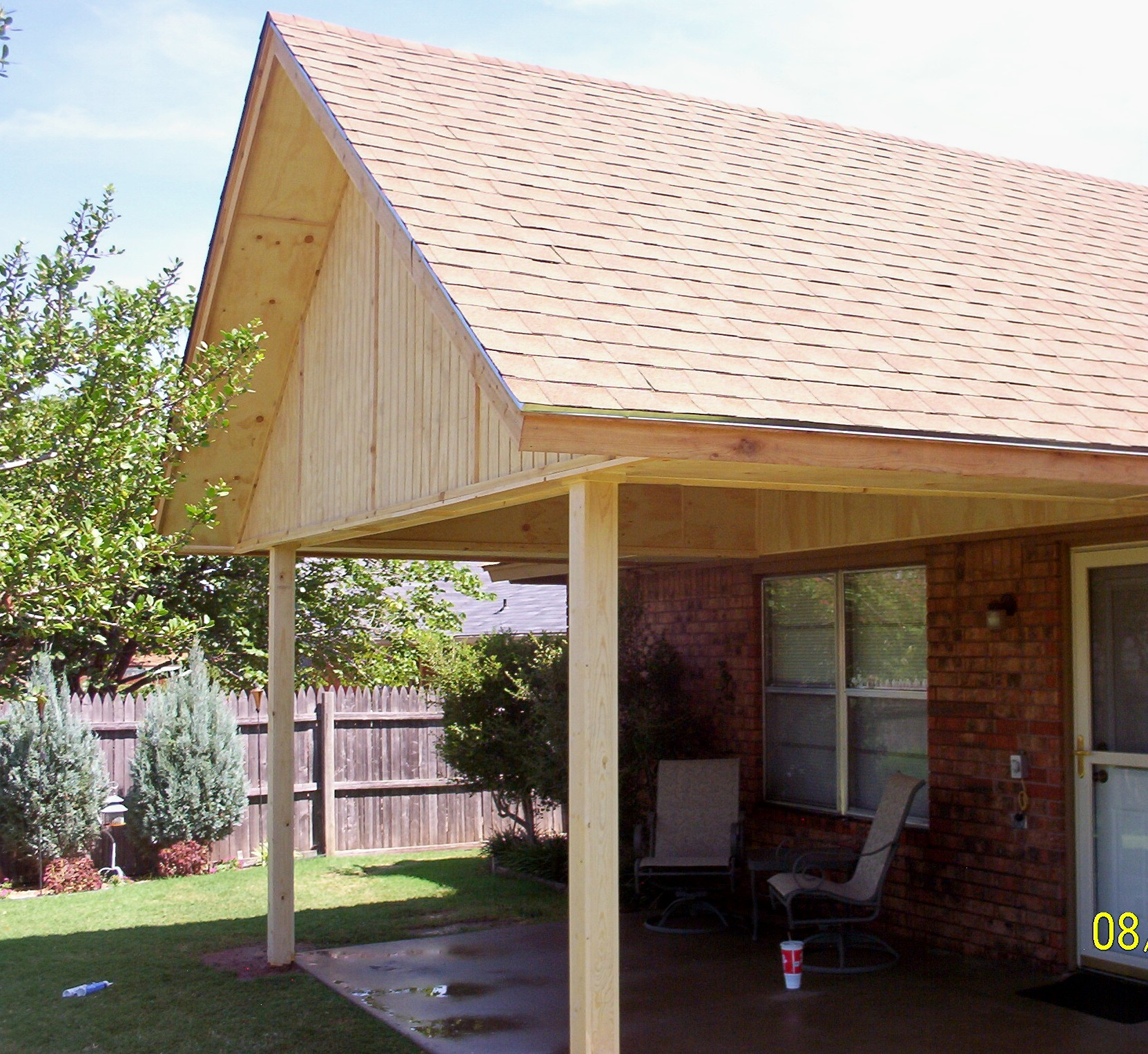 MM Construction Patio Covers Gabled Shed Flat Roof