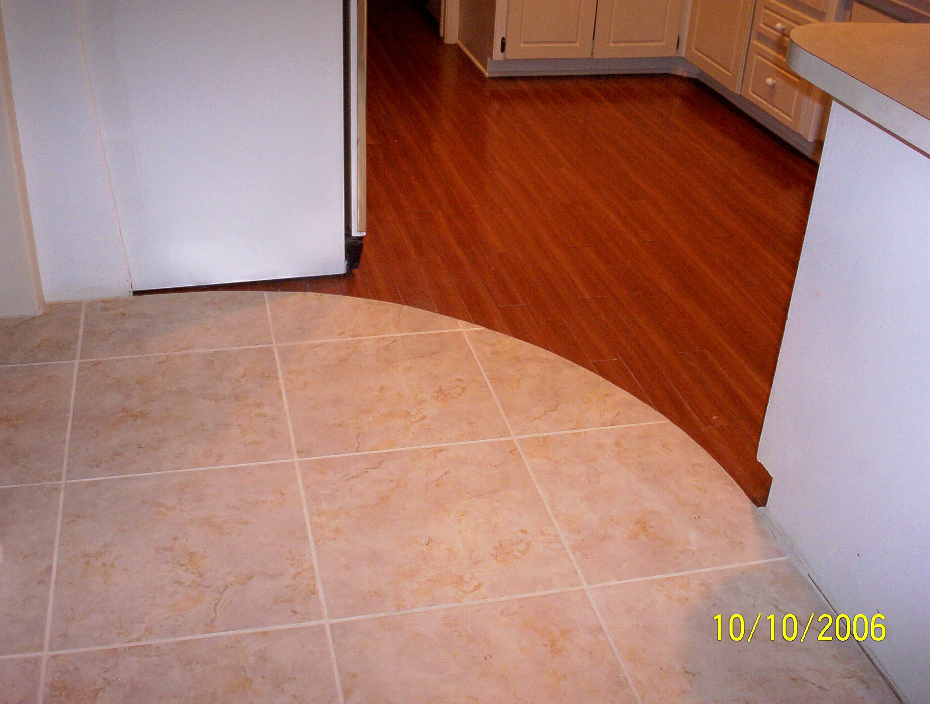 M m construction kitchen kitchen remodel Tile wood floor